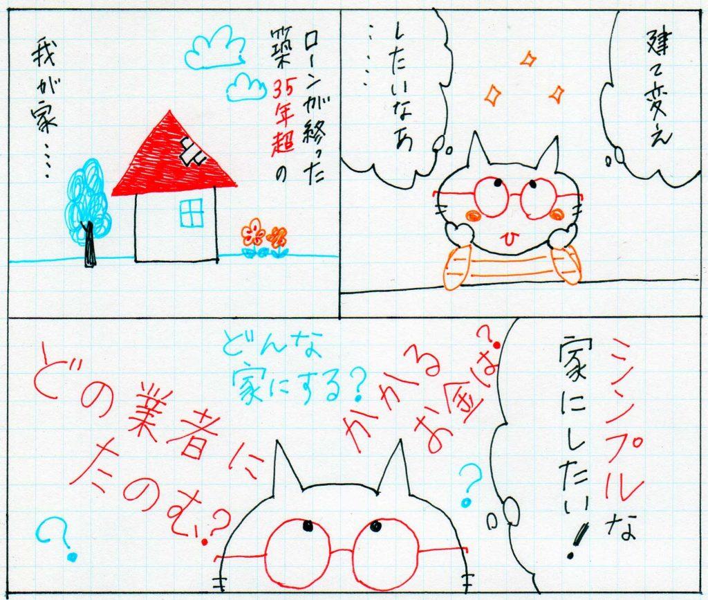 家の建て替えの漫画